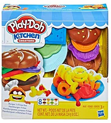 HASBRO PlayDoh - Silly Snacks Burger n Fries Set
