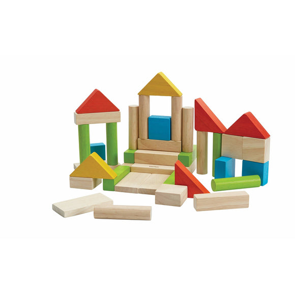 Plan Toys - Colorful 40 Unit Blocks
