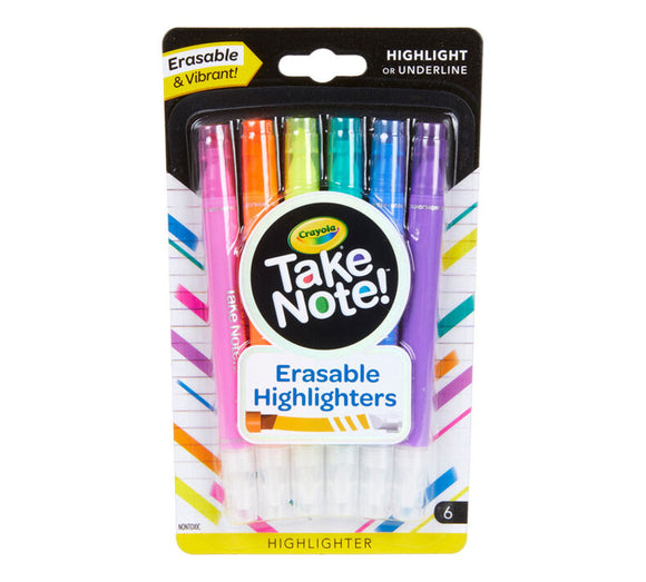 Crayola - Take Note Erasable Highlighters