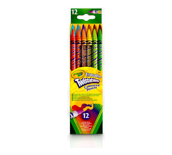 Crayola - Erasable Twistables Colored Pencils /12ш/