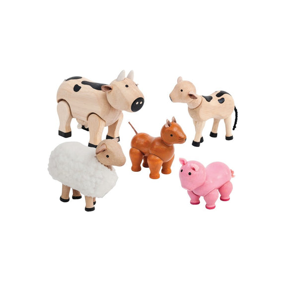 Plan Toys - Farm Animals Set