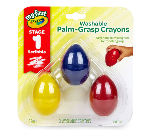 Crayola - My First Washable Palm Grasp Crayons