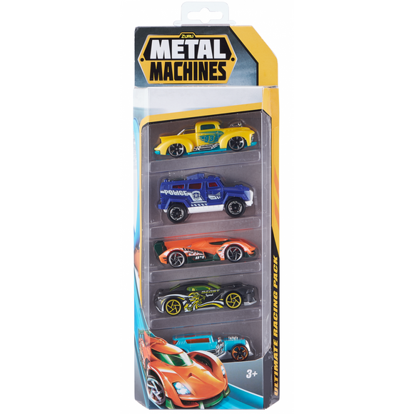 Metal Machines Cars - 5 Pack