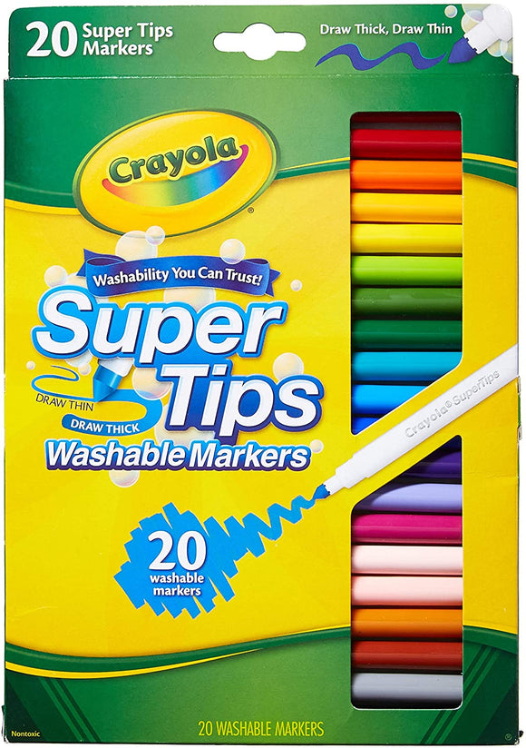 Crayola - Washable Super Tips Fine Line Markers /20ш/