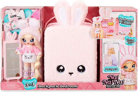 Na! Na! Na! Surprise - 3-in-1 Backpack Bedroom Pink Bunny Playset