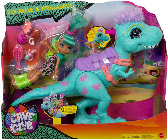 Barbie - Cave Club Rockelle Doll and Tyrasaurus Dinosaur