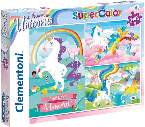 Clementoni Puzzle - Girls Unicorns Brilliant