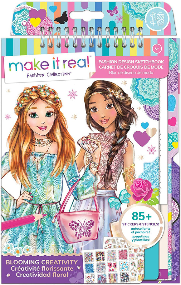 Make It Real - Fashion Design Sketchbook: Blooming Creativity