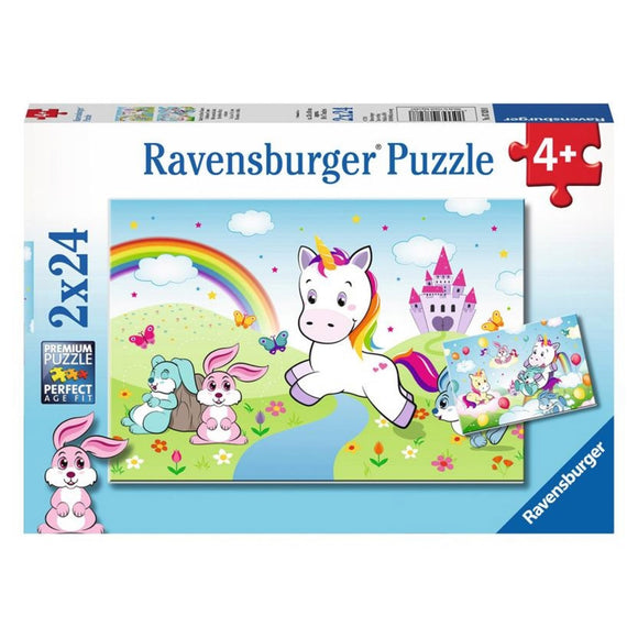ravensburger puzzle - Unicorn 2x24pc