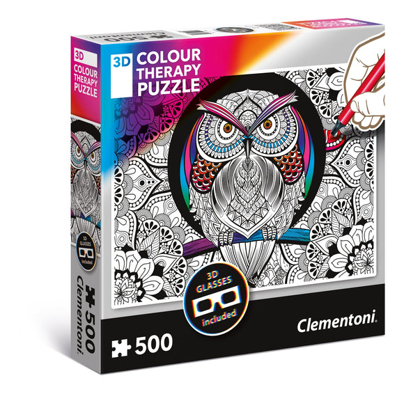 Clementoni Puzzle - animal 3D Color Therapy Owl