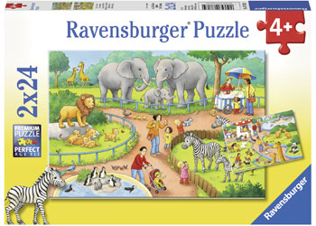 ravensburger puzzle - A Day at the Zoo 2x24pc