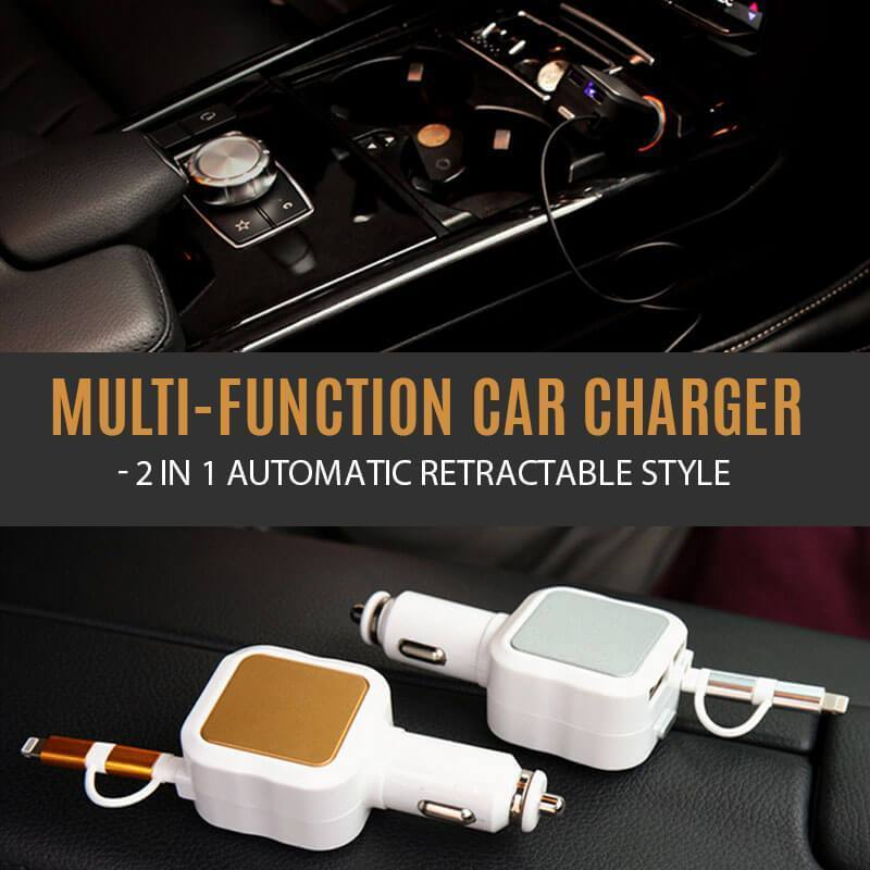 Button recall- 2 in 1 Automatic Retractable Style Charger