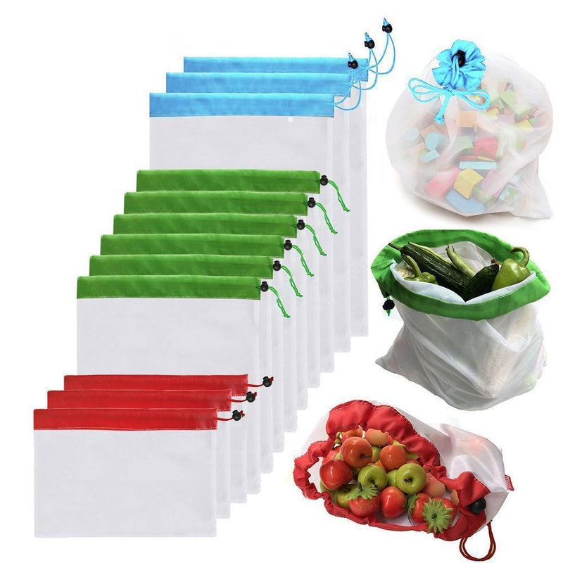Ecological and Reusable Portable Bag, 12 Pieces