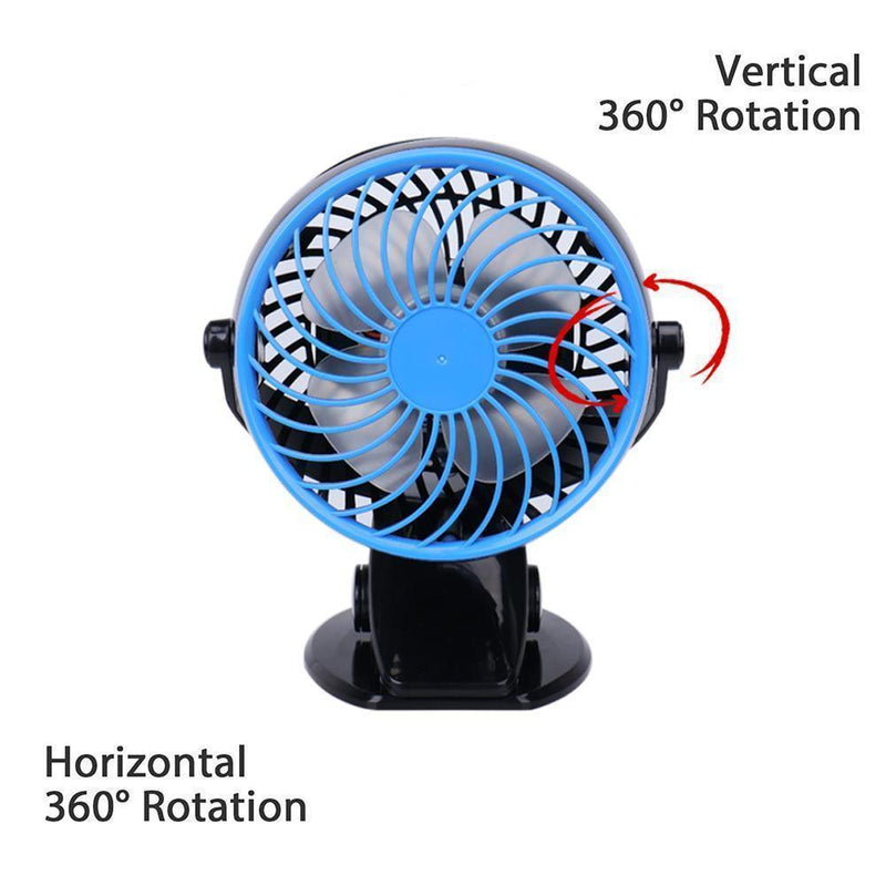360° Portable, Rechargeable, Lithium Lon Fan