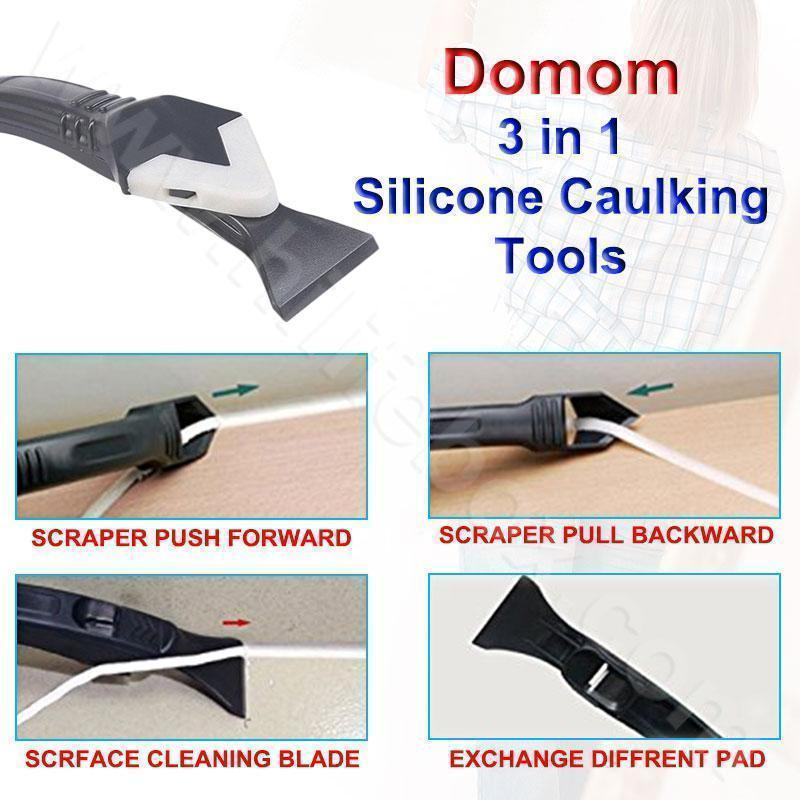 Domom® 3 in 1 Upgraded  Silicone Caulking Tools
