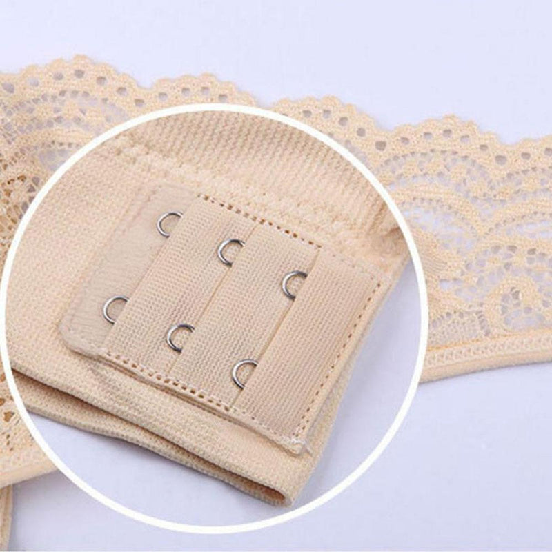 Wireless Front Cross Buckle Lace Lift Bra