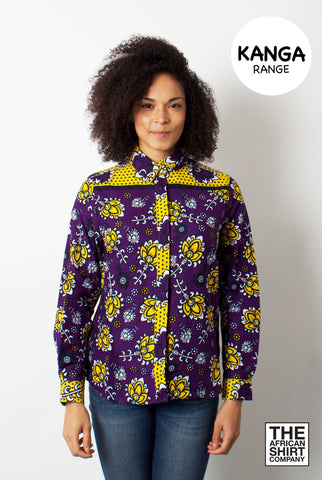 WILD FLOWER WISH Vibrant purple base with bright yellow and whitepattern... click for more information