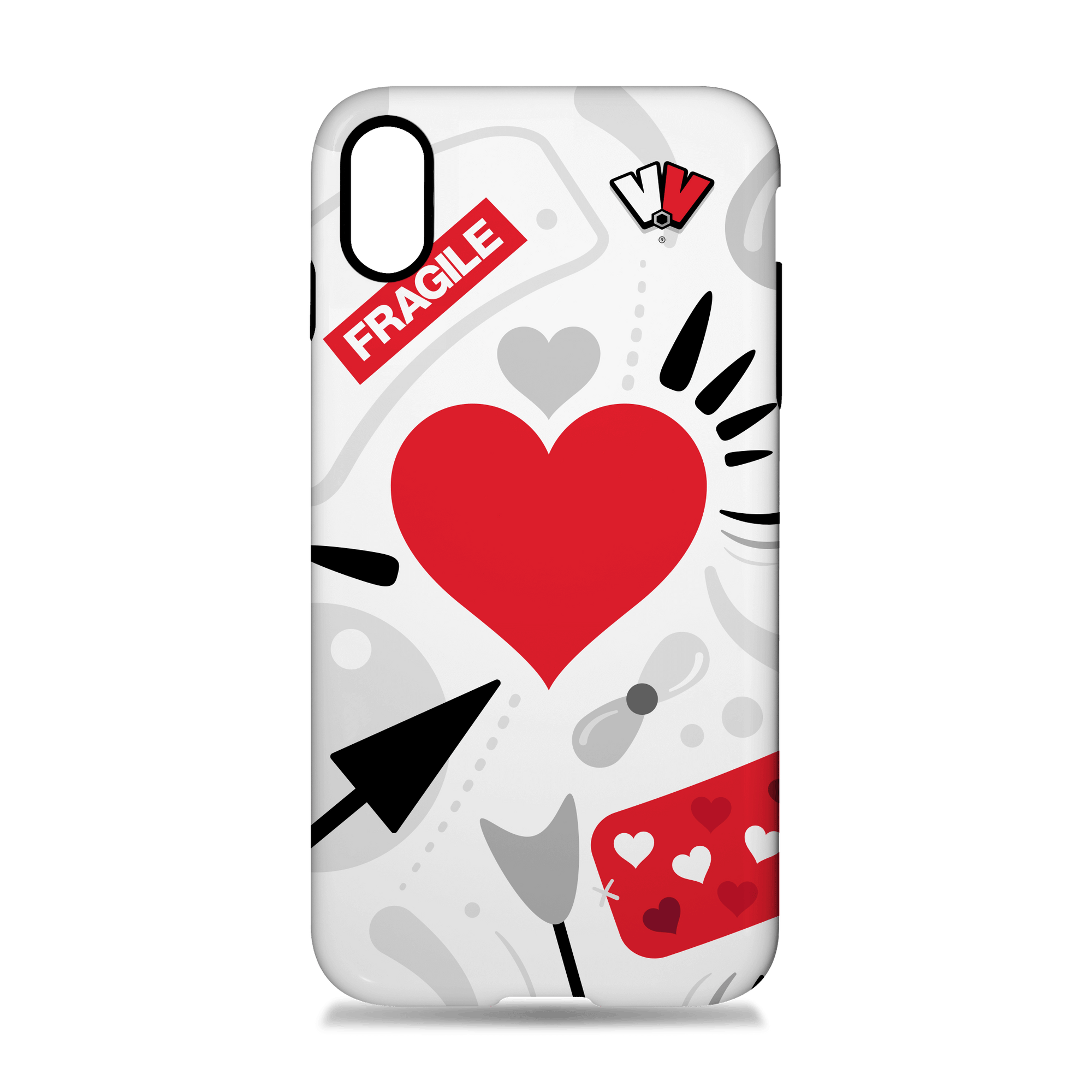 VALENTINE Breakout Phone Case (White)