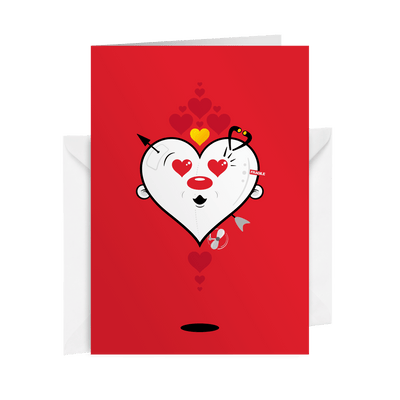 VALENTINE Fancy Card (Red)