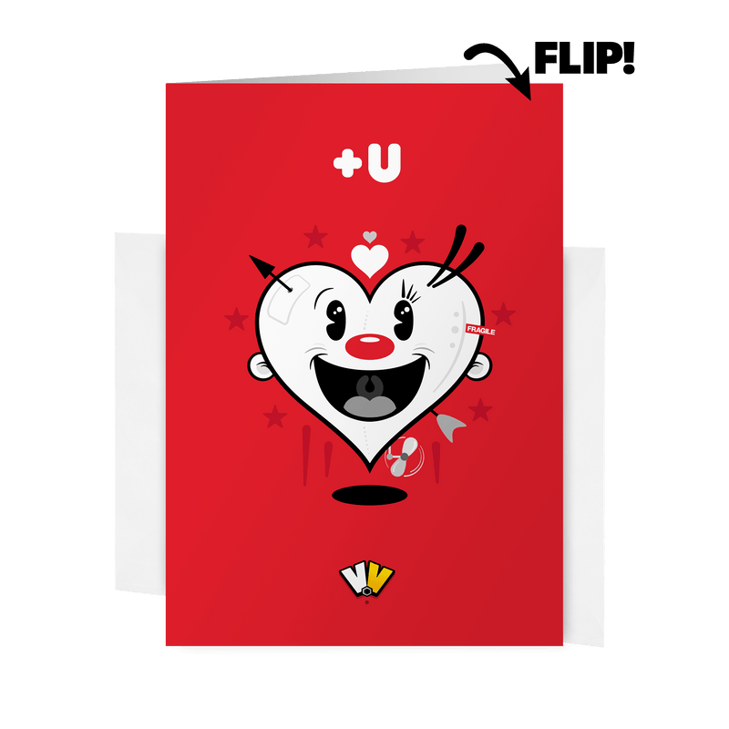 VALENTINE -U+U Card (Red)