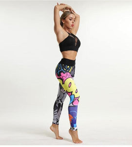 Comic Print Yoga Pants