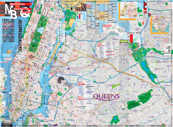 Queens And Manhatan Subway Map.Map New York Manhattan Brooklyn Queens Theaters Subway Transit Museums Streets Parks Restaurants Available