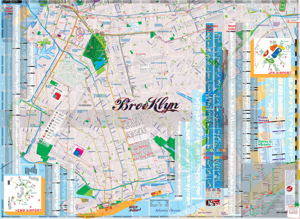 manhattan Brooklyn map new york - theaters - subway - transit - museums - streets - parks - restaurants