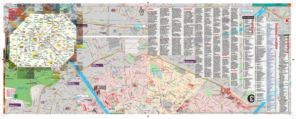 iBooks DIGITAL Map Guide Laminated Paris - Metro - Streets - Museums