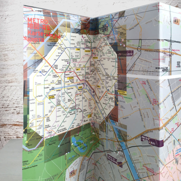 Paris Map Guide - Laminated - Metro - Streets - Museums