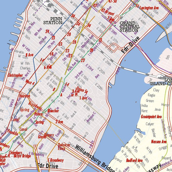 DIGITAL Map - New York City Editable in layers