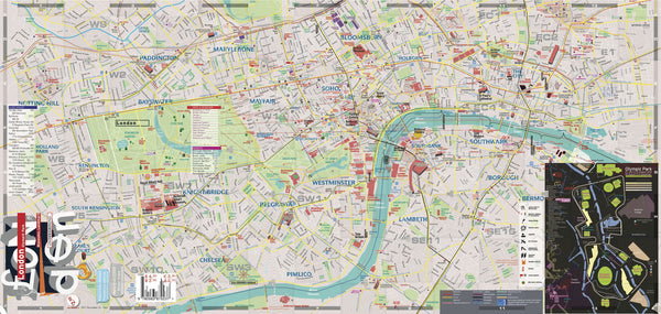 Full front map London Map