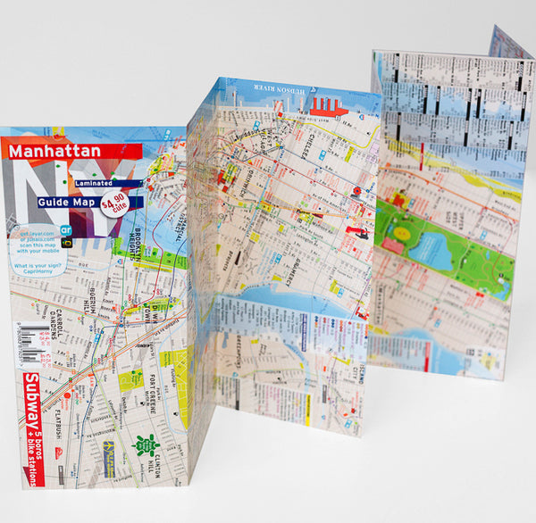 Fort Greene Subway Map.Manhattan Map Laminated Midtown Details Ar Augmented Reality