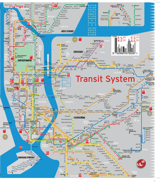 manhattan map new york - theaters - subway - transit - museums - streets - parks - restaurants