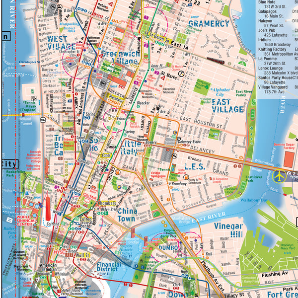 BUNDLE 20 Manhattan Map - Laminated - Midtown Details