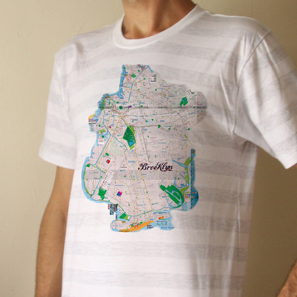T Shirt Brooklyn Map Streets and Subway