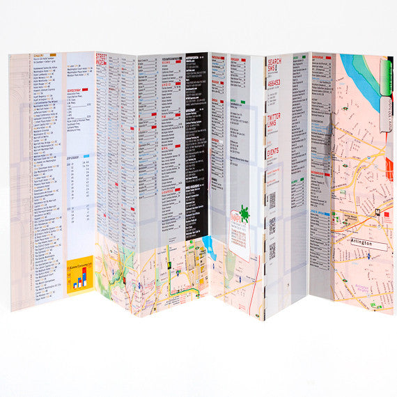 Bundle - 350 Map Laminated Washington DC WaterProof  - theaters - subway - transit - museums - streets - parks - restaurants