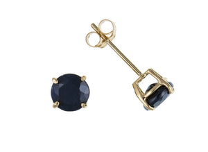Yellow Gold Sapphire Stud Earrings