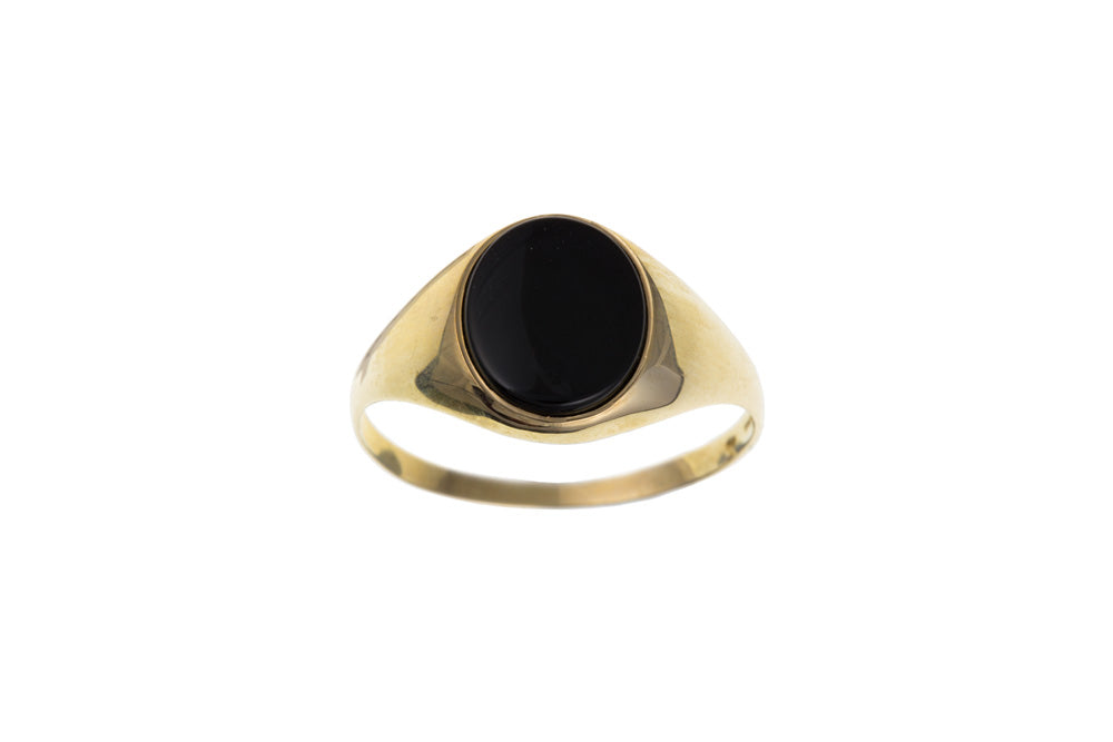 Men's Yellow Gold Signet Ring