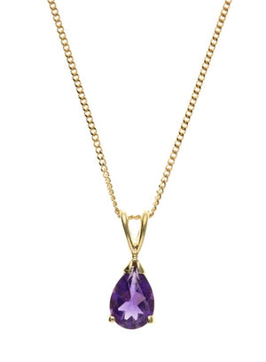 Yellow Gold Amethyst Pendant