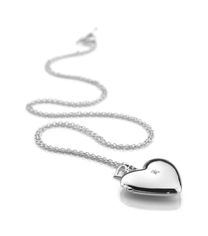 Silver Hot Diamonds Romantic Heart Locket, Leevans Jewellers Leeds