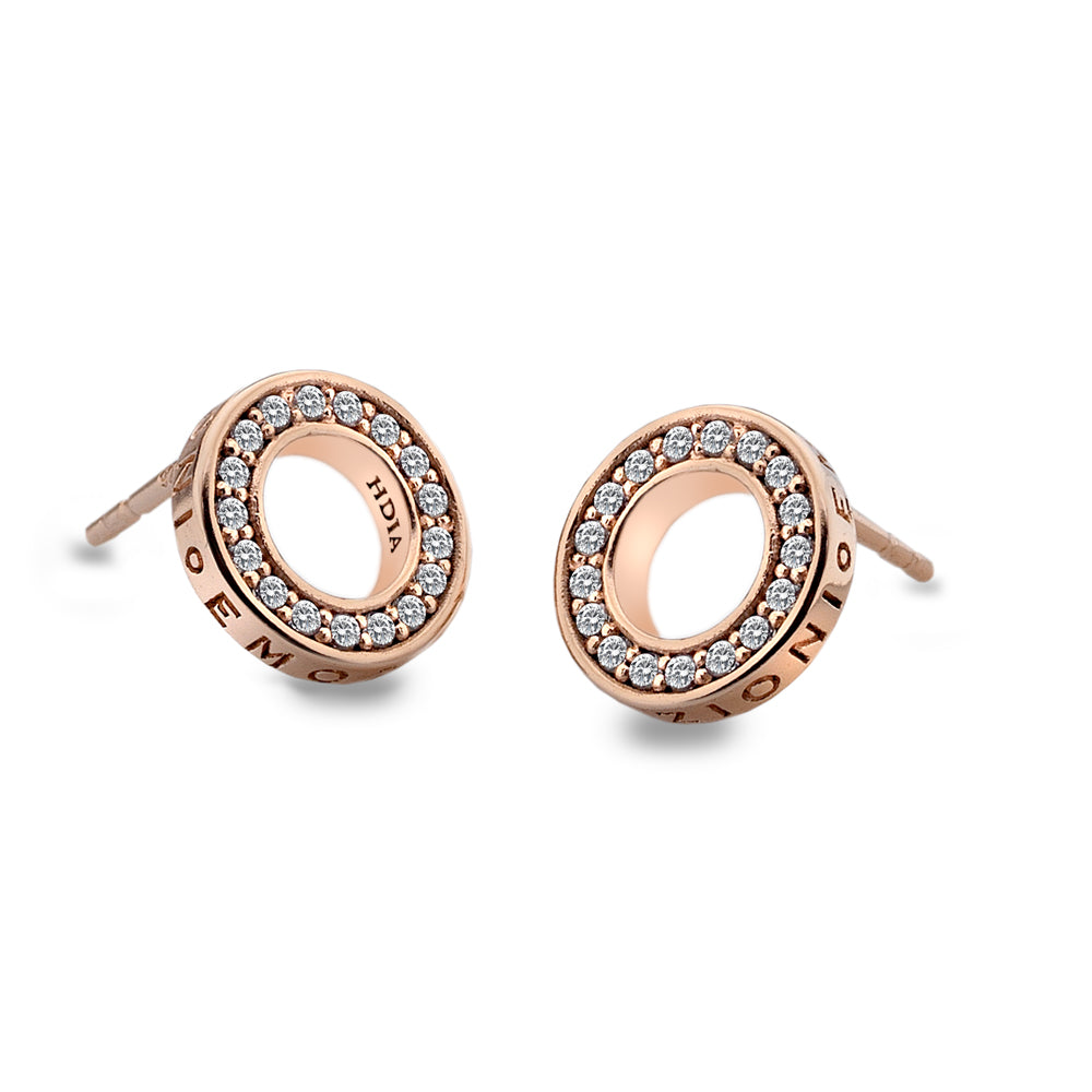 Emozioni Purity Rose Gold Plate Earrings