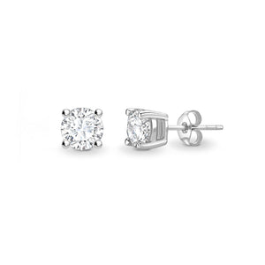 18ct White Gold Diamond Stud Earring