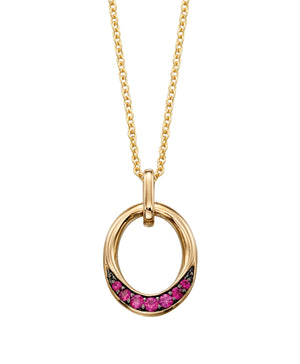 Yellow Gold Ruby Pendant