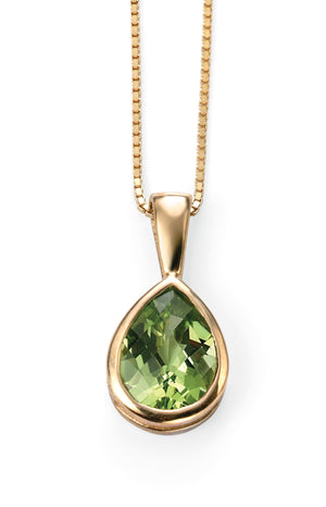Yellow Gold Peridot Pendant