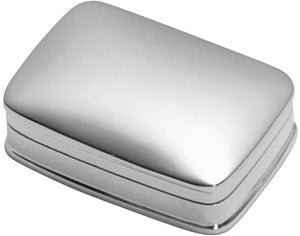 Silver Rectangular Pill Keepsake Box