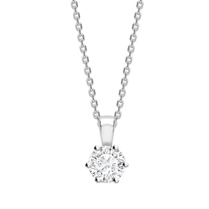18ct white gold round diamond pendant & chain 0.33ct, Leevans Jewellers & Pawnbrokers Leeds