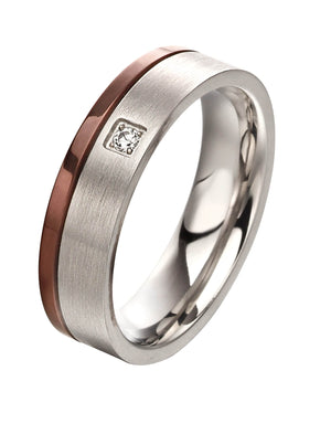 Men's Fred Bennett Stainless Steel & CZ Ring, R3669, Leevans Jewellers & Pawnbrokers Leeds