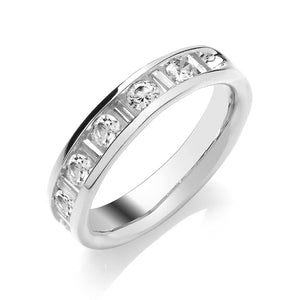 Diamond Half Eternity Ring 2.7mm
