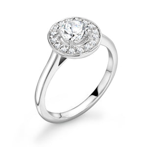 Platinum Diamond Halo Ring