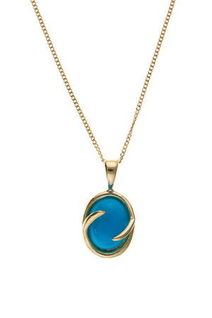 Yellow Gold Turquoise Pendant